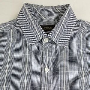 Tasso Elba Small Fitted Long Sleeve Check Shirt